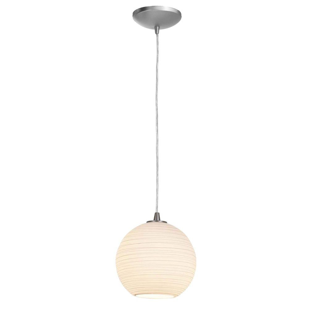 Access Lighting 1-Light Pendant Oil Rubbed Bronze Finish White GlassLN-DISCONTINUED
