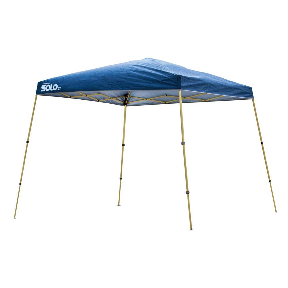 10 ft. x 10 ft. Blue Aluminum Compact Instant Canopy
