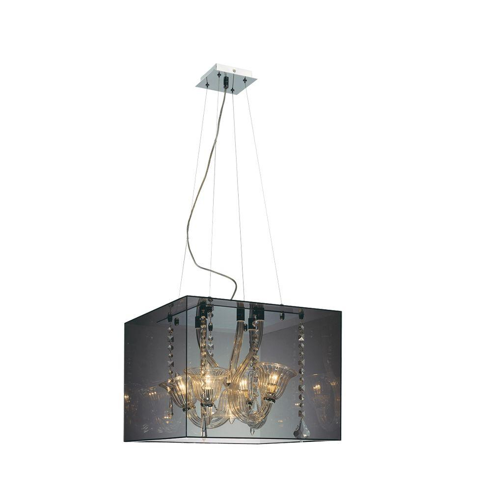 Eurofase Muse Collection 5-Light Hanging Smoked Acrylic Pendant-DISCONTINUED