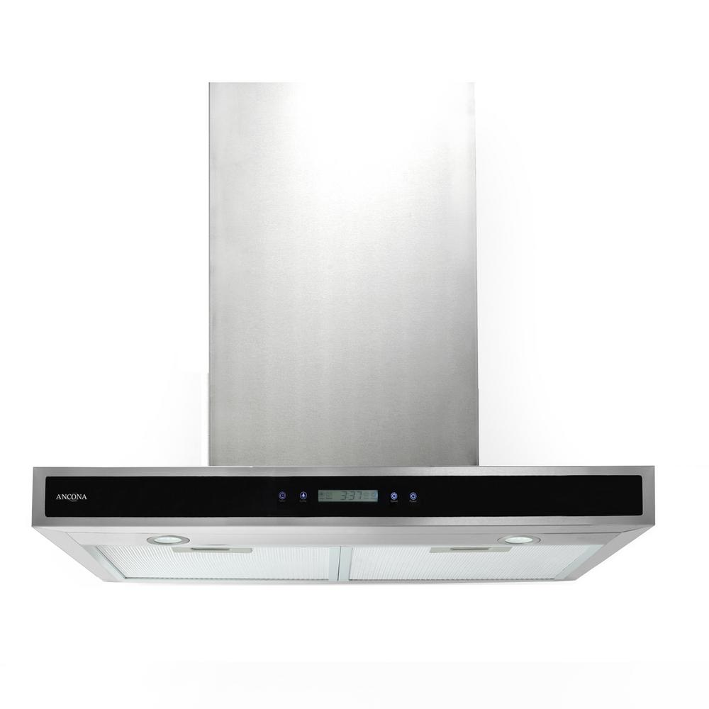 30 in. 400 CFM Convertible Wall-Mounted Range Hood with LED Lights