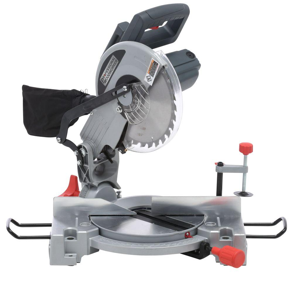 Professional Woodworker 15-Amp 10 in. Compound Miter Saw with Laser-8633 -
