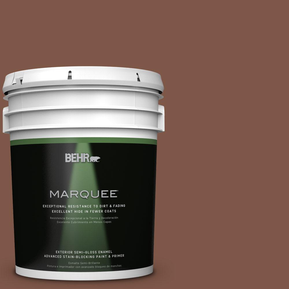 BEHR MARQUEE 5-gal. #QE-15 Iron Oxide Semi-Gloss Enamel Exterior Paint