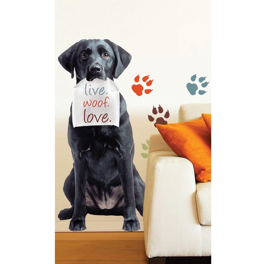 Sticky Pix Removable and Repositionable Ultimate Wall Sticker Mini Mural Appliques Black Lab