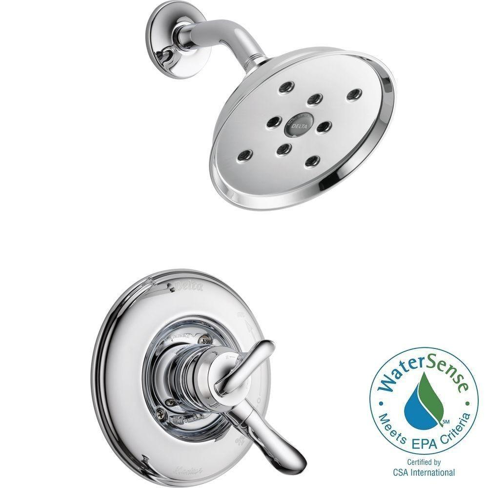 Delta Linden 1-Handle H2Okinetic Shower Only Faucet Trim Kit in Chrome (Valve Not Included)