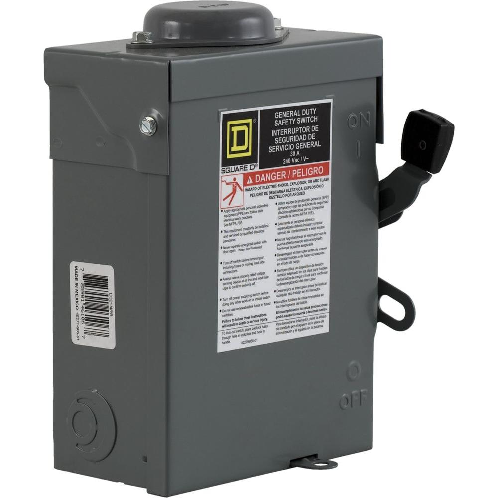 30 Amp 240-Volt 3-Pole Not Fusible Outdoor General Duty Safety Switch