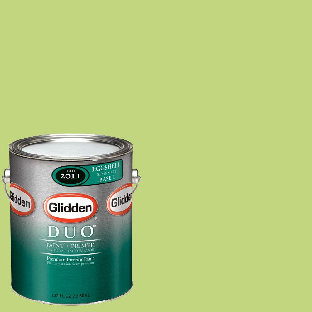 Glidden DUO 1-gal. #GLG03 Spring Green Eggshell Interior Paint with Primer