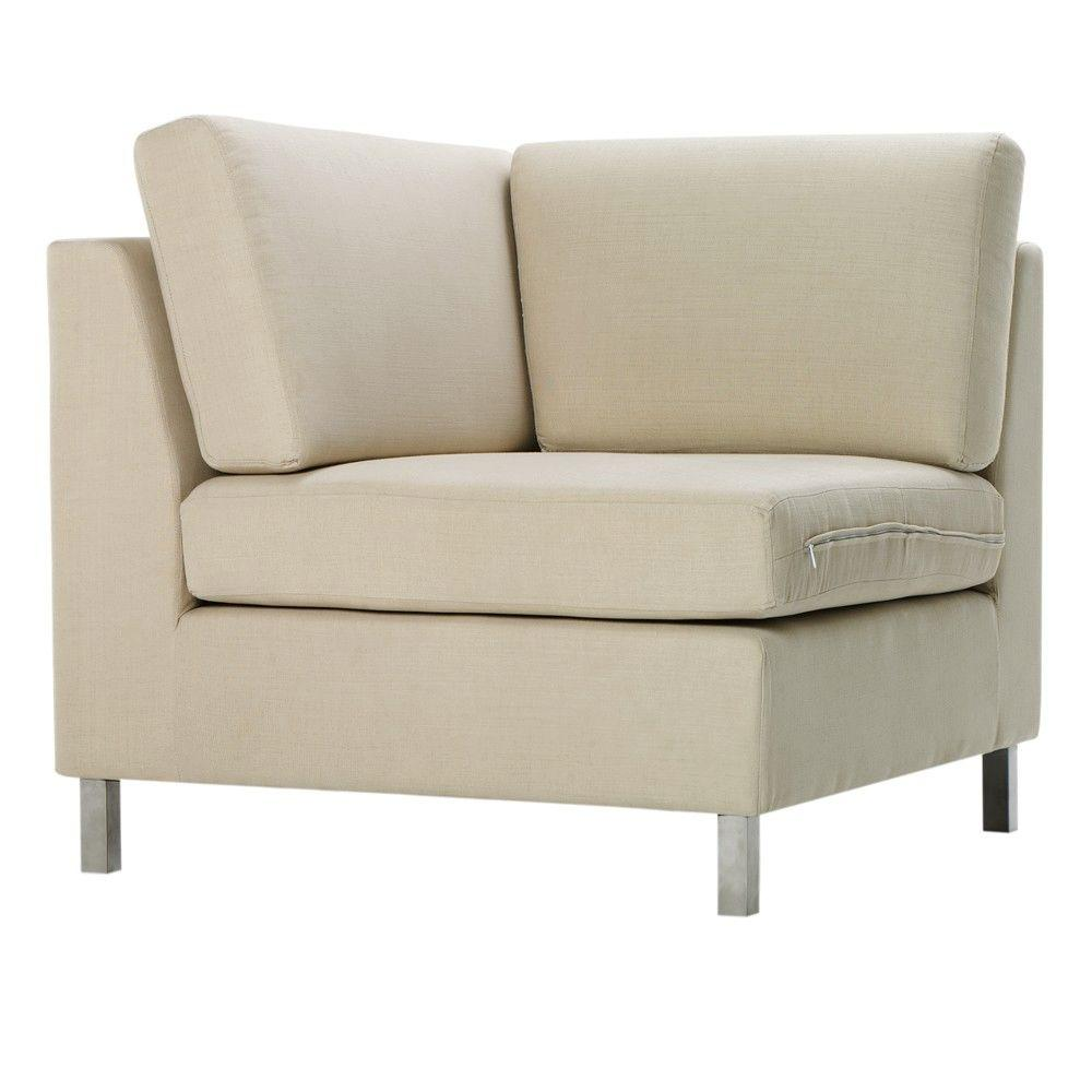 Home Decorators Collection Laurel 37.75 in. W Beige Sectional Pieces Corner Chair