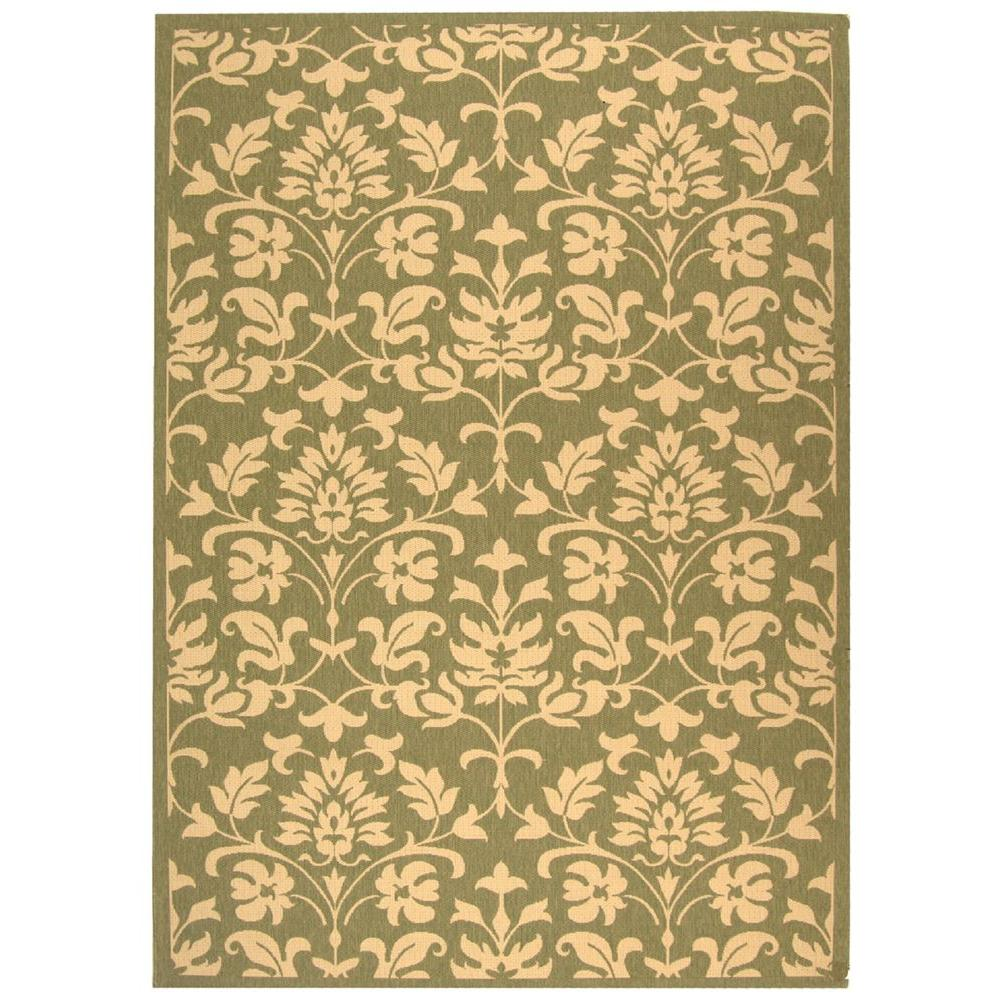 Courtyard Olive/Natural (Green/Natural) 9 ft. x 12 ft. Indoor/Outdoor Area Rug