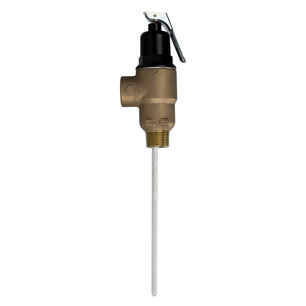 Cash Acme 3/4 in. Brass Male Inlet FVMX-8C Temperature and Pressure Relief Valve