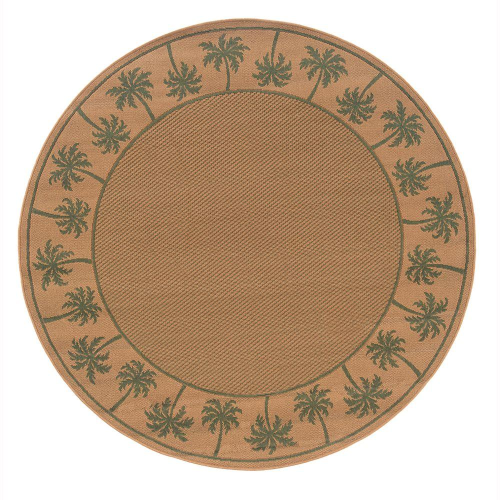 Oriental Weavers Nevis Passage Green 7 ft. 10 in. Round Area Rug
