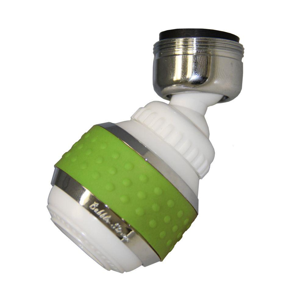 1.5 GPM Soft Grip Water-Saving Swivel Spray Aerator in White and