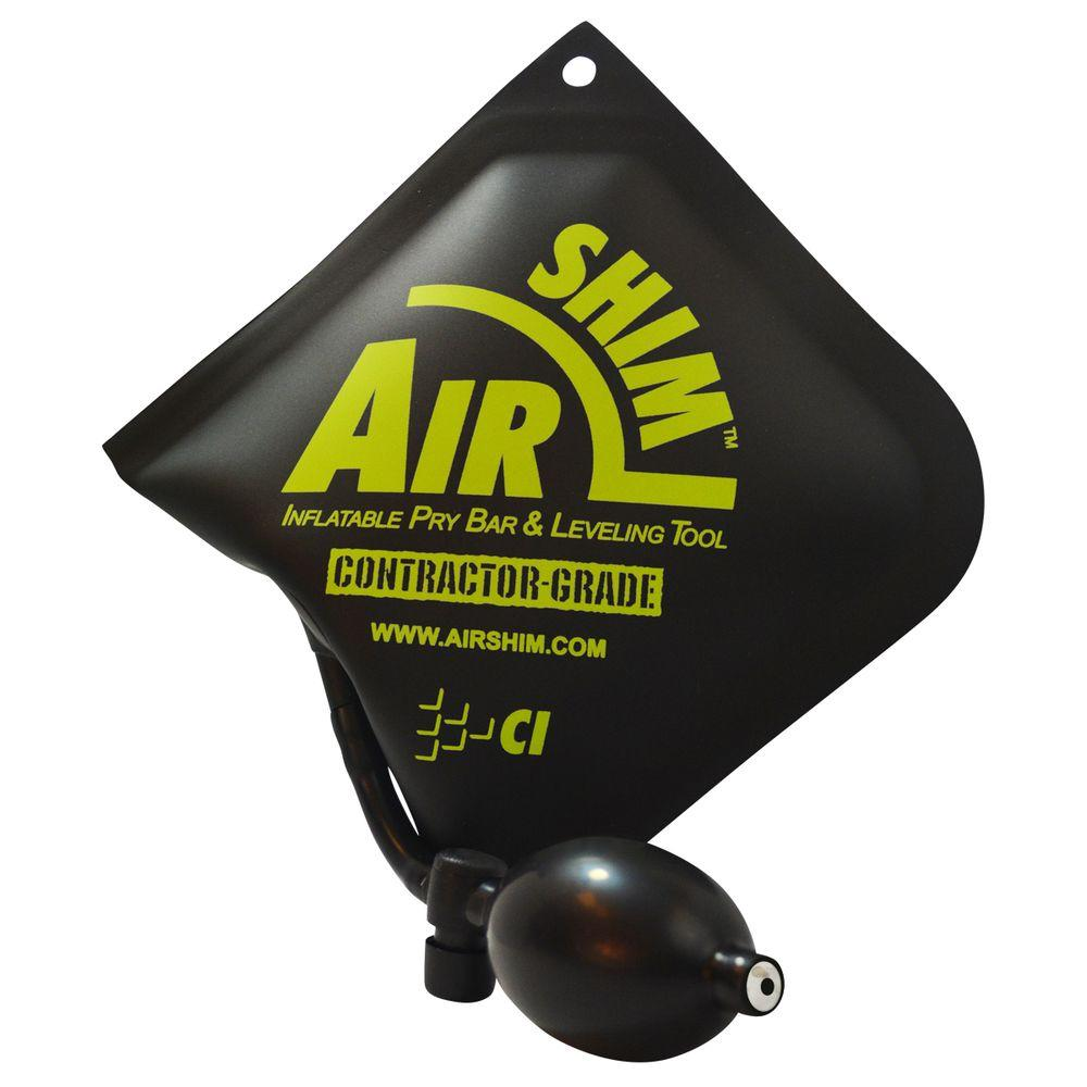 Contractor Grade AirShim Inflatable Pry Bar and Leveling Tool that Holds