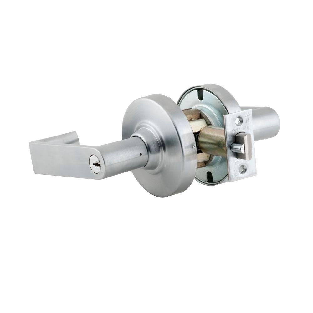 Schlage Rhodes Double Cylinder Satin Chrome Commercial Storeroom Lever-DISCONTINUED