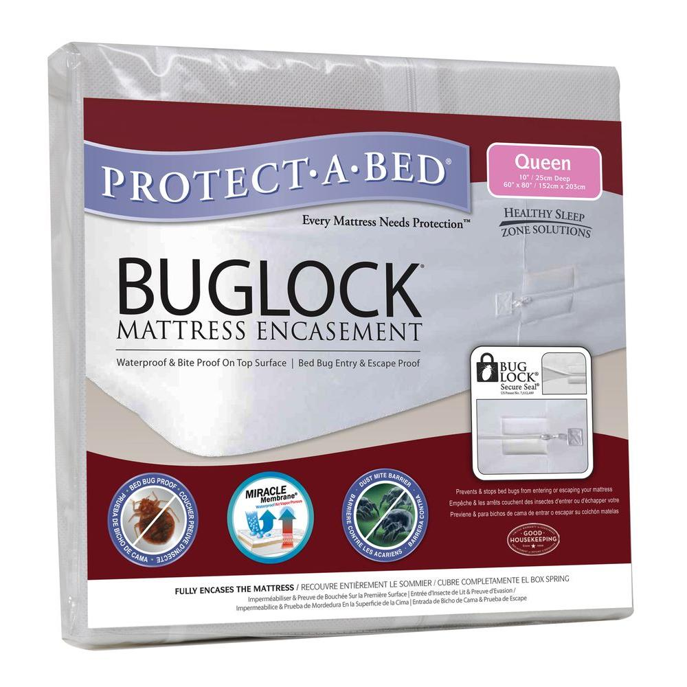 Protect-A-Bed Buglock Economy Queen 60.5 In. W x 80.5 In. L x 10.5 In. H Mattress Encasement