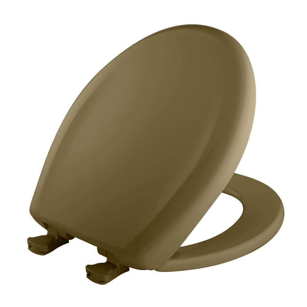 BEMIS Slow Close STA-TITE Round Closed Front Toilet Seat in Avocado