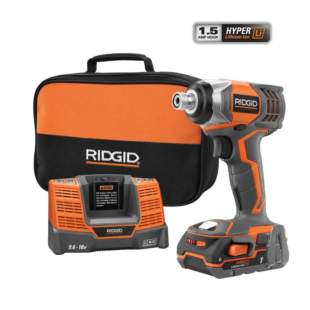 RIDGID X4 18-Volt Lithium-Ion 1/4 in. Cordless Impact Driver Kit