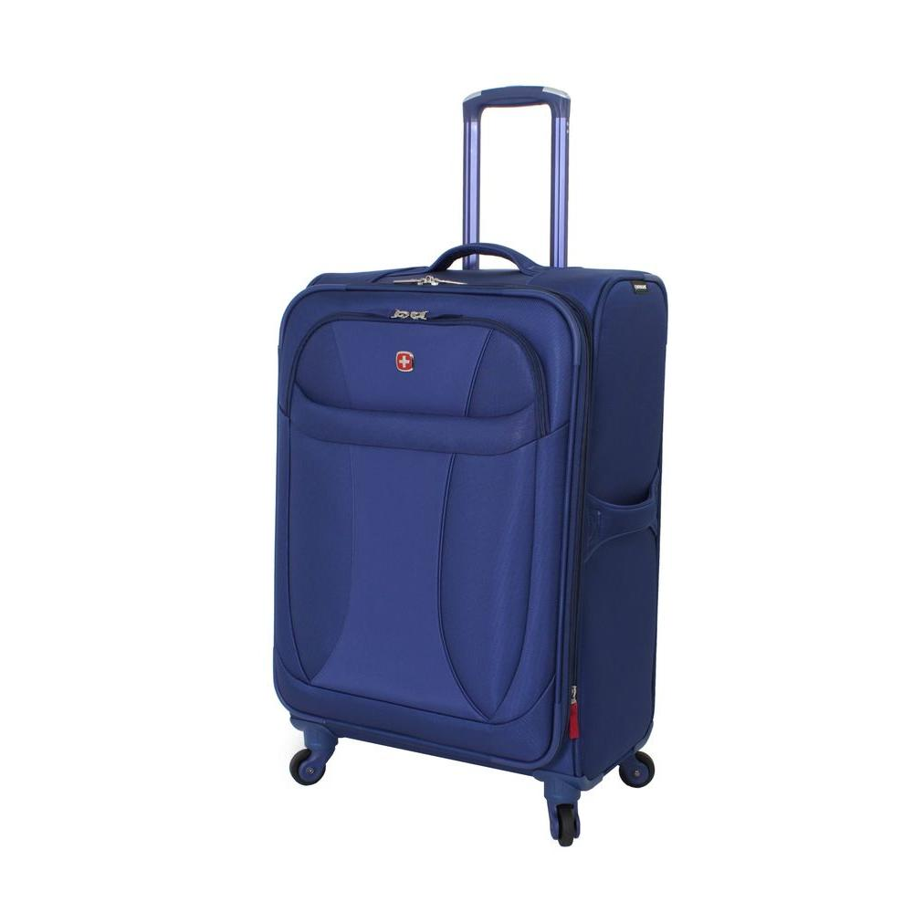 24 in. Lightweight Spinner Suitcase in Blue