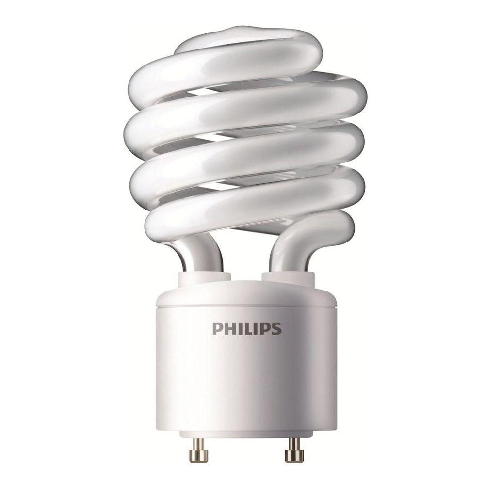 Philips 60W Equivalent Cool White (4100K) A19 Spiral CFL Light Bulb (E)*