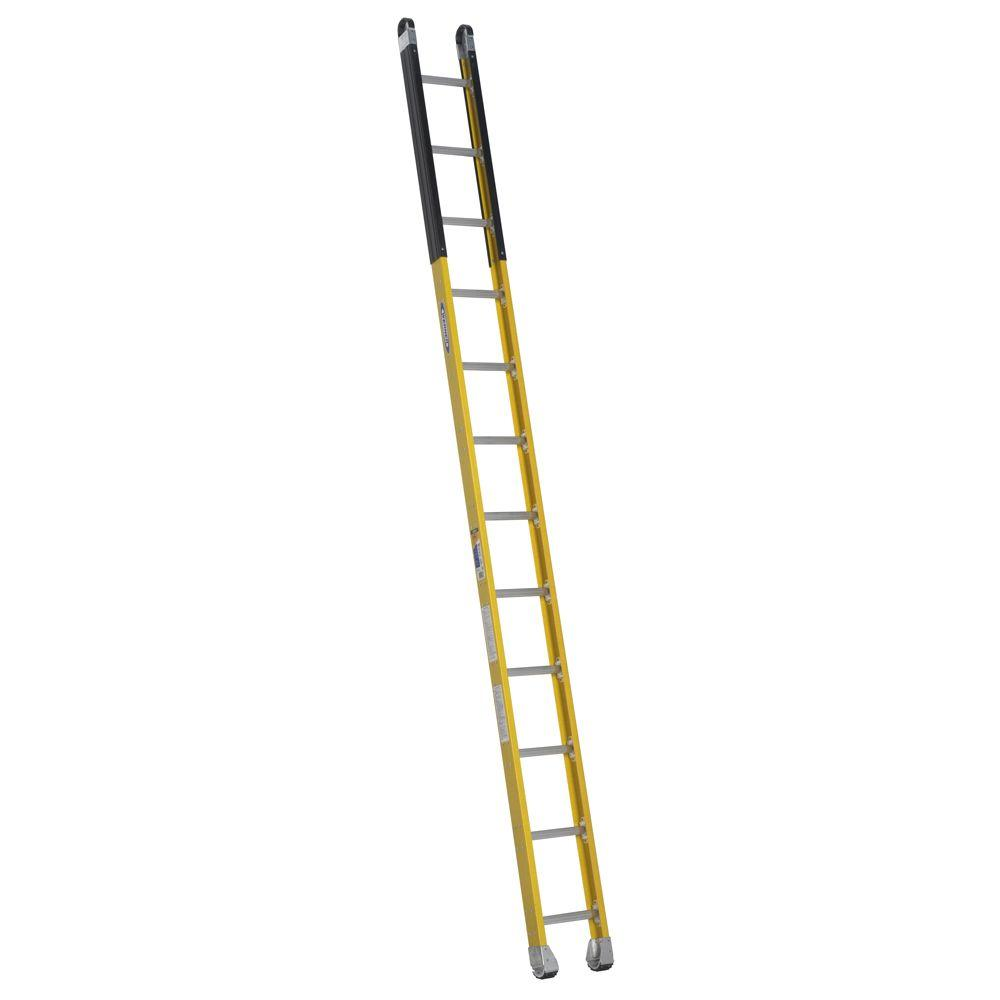 Werner 12 ft. Fiberglass Manhole Ladder with 375 lb. Load Capacity