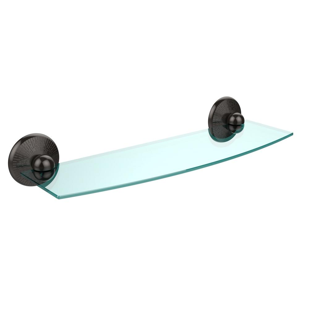 Monte Carlo Collection 18 in. Glass Shelf in Oil Rubbed Bronze