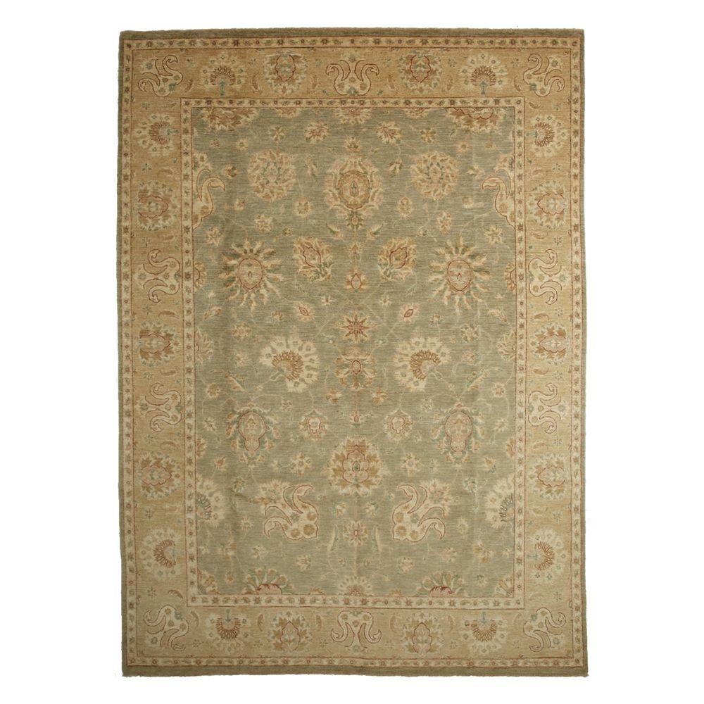 Oushak Green 9 ft. x 12 ft. 5 in. Indoor Area Rug