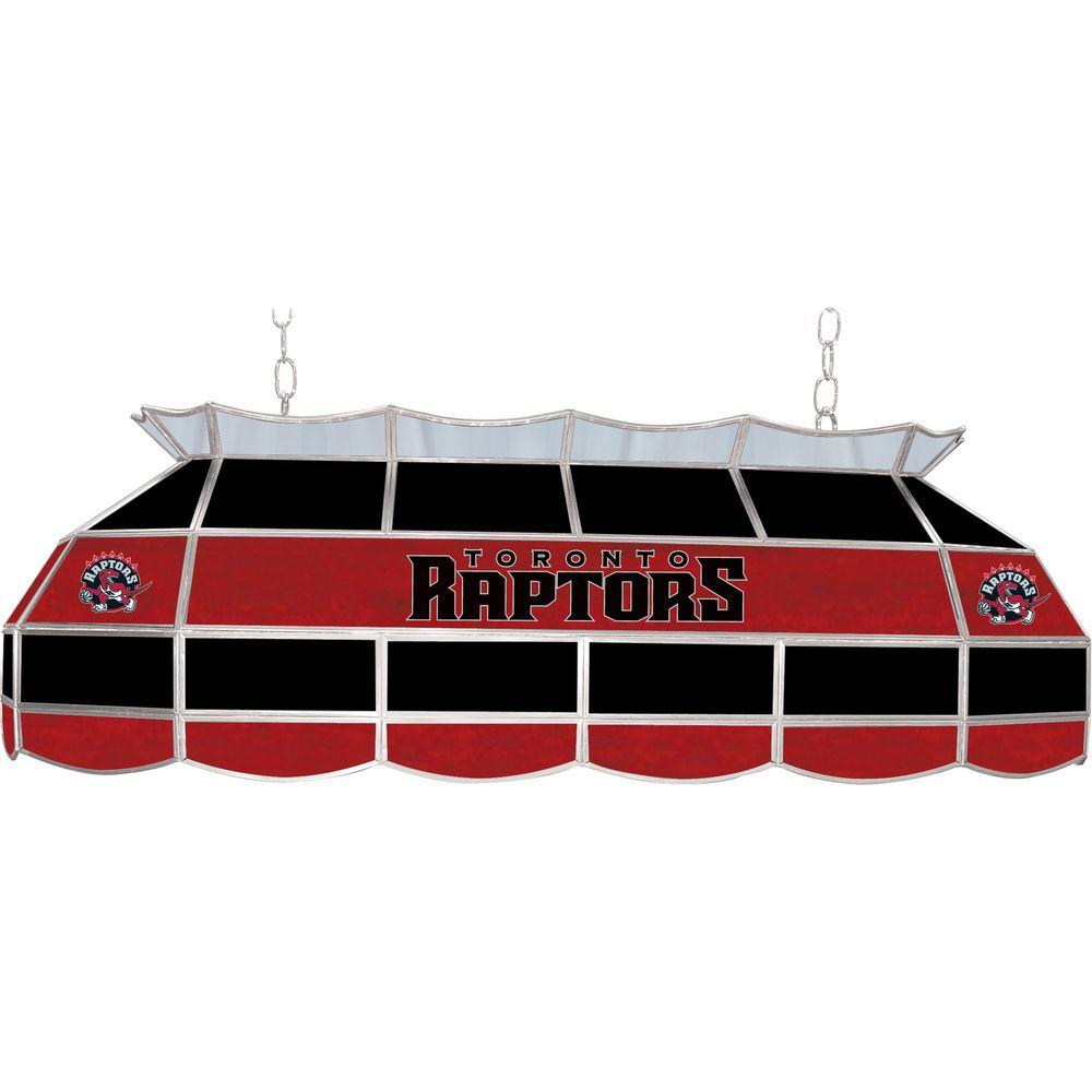 NBA Toronto Raptors NBA 3-Light Stained Glass Hanging Tiffany Lamp