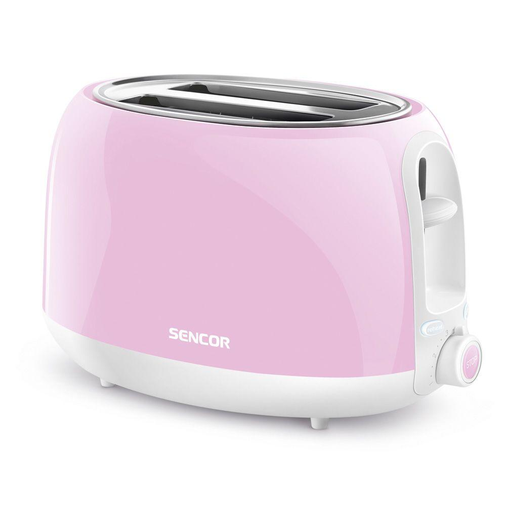 Pink Small Kitchen Appliances Sencor 2 Slice Pastel Pink Toaster Sts38rs Naa1 The Home Depot