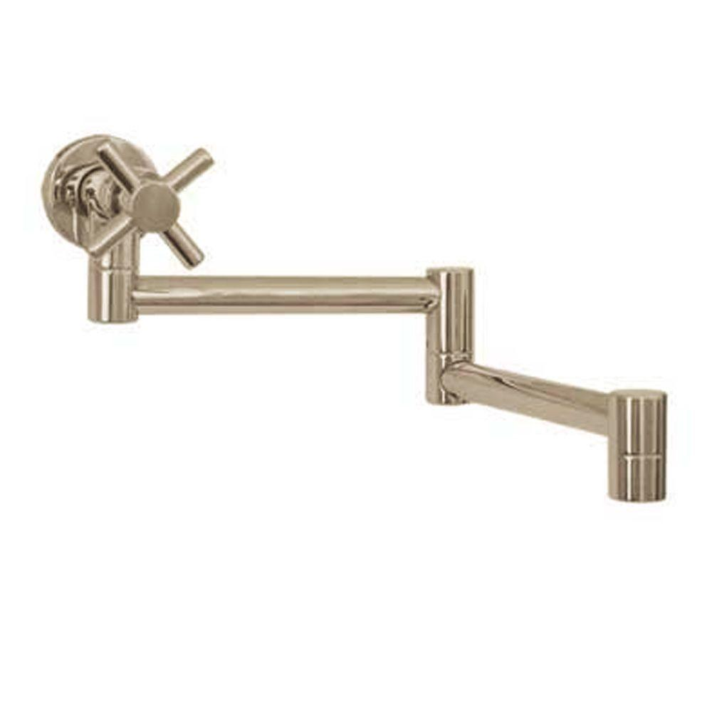 Whitehaus Collection Decohaus Wall-Mounted Potfiller in Brushed Nickel