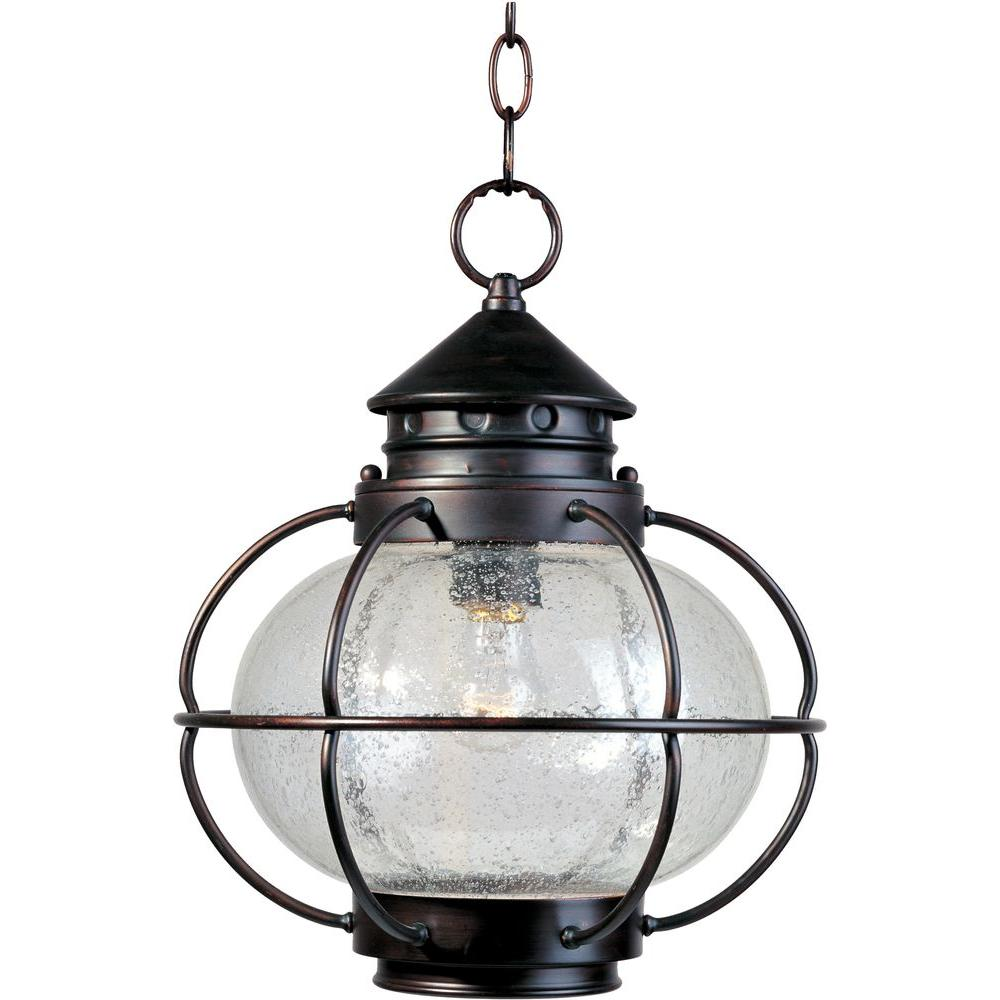Maxim Lighting Portsmouth Oil-Rubbed Bronze Outdoor Hanging Lantern-30506CDOI -