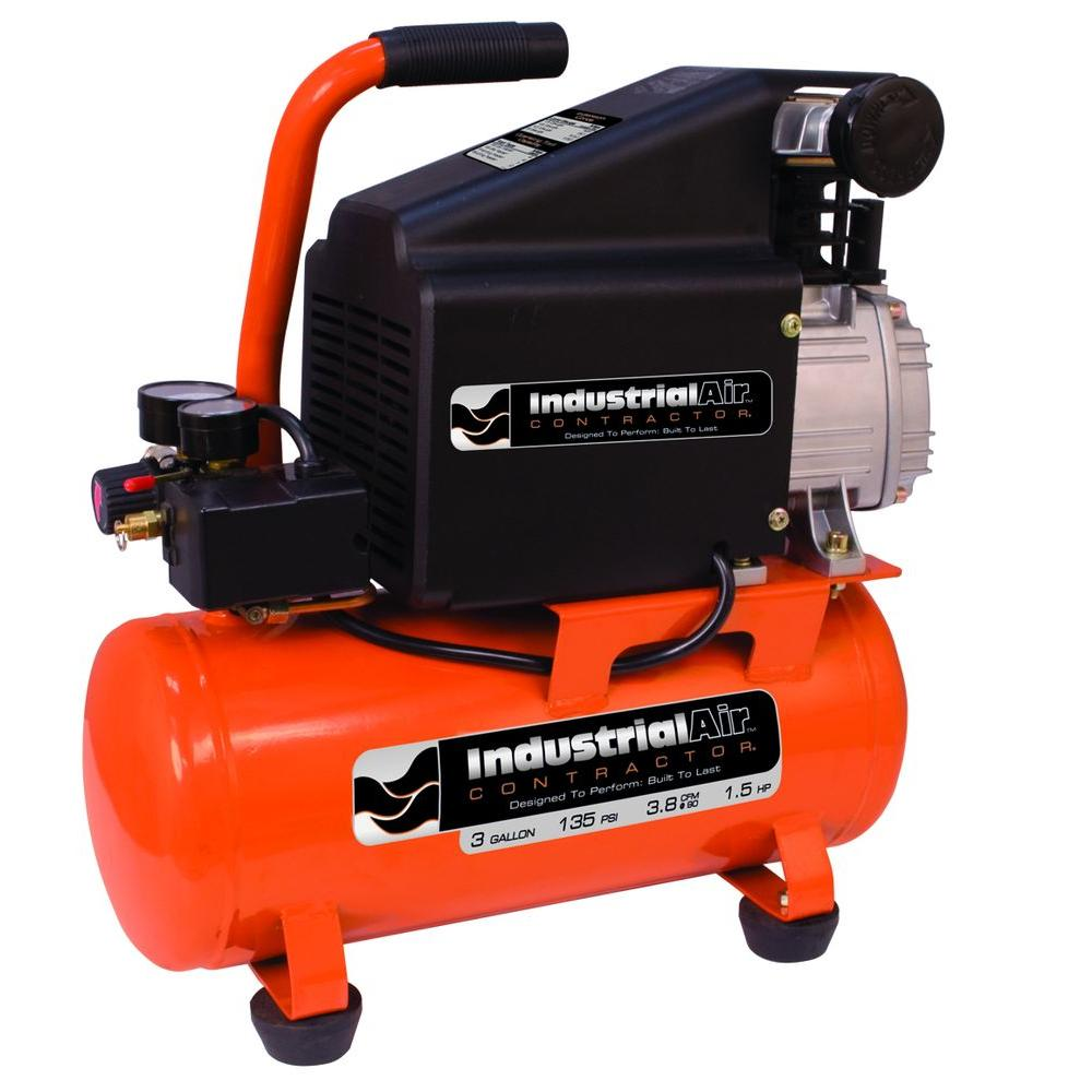 Industrial Air 3 Gal. Portable Electric Air Compressor-CP1580325 - The Home