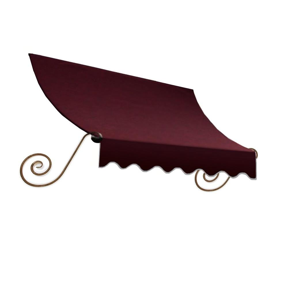 AWNTECH Awnings 18 ft. Charleston Window/Entry Awning (18 in. H x 36 in. D) in Burgundy Red ECH1836-18B