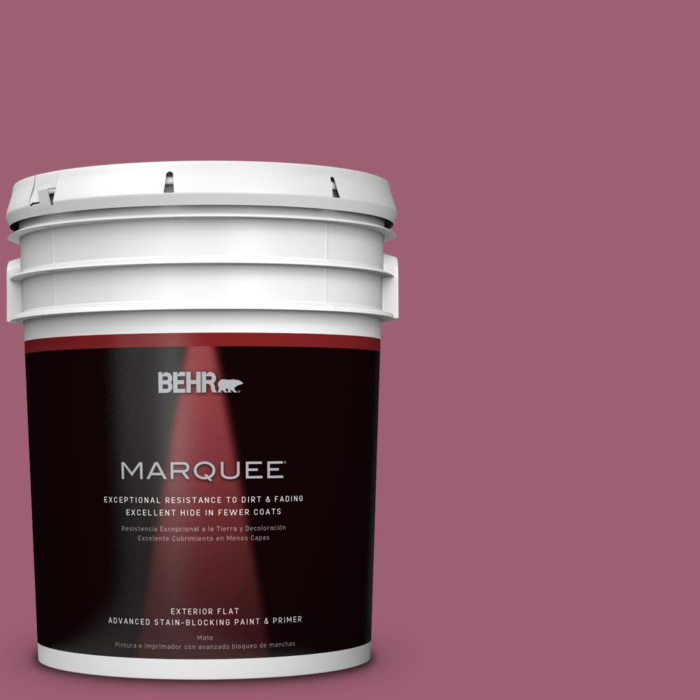 5-gal. #M130-6 Tropical Hibiscus Flat Exterior Paint