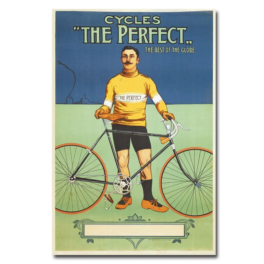 Trademark Fine Art 22 in. x 32 in. The Perfect Bicycle 1895 Canvas Art