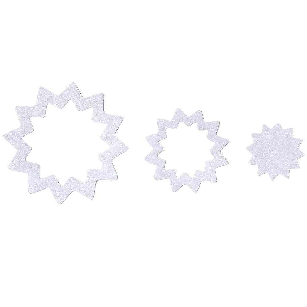 Adhesive Starburst Treads in Clear (21-Count)