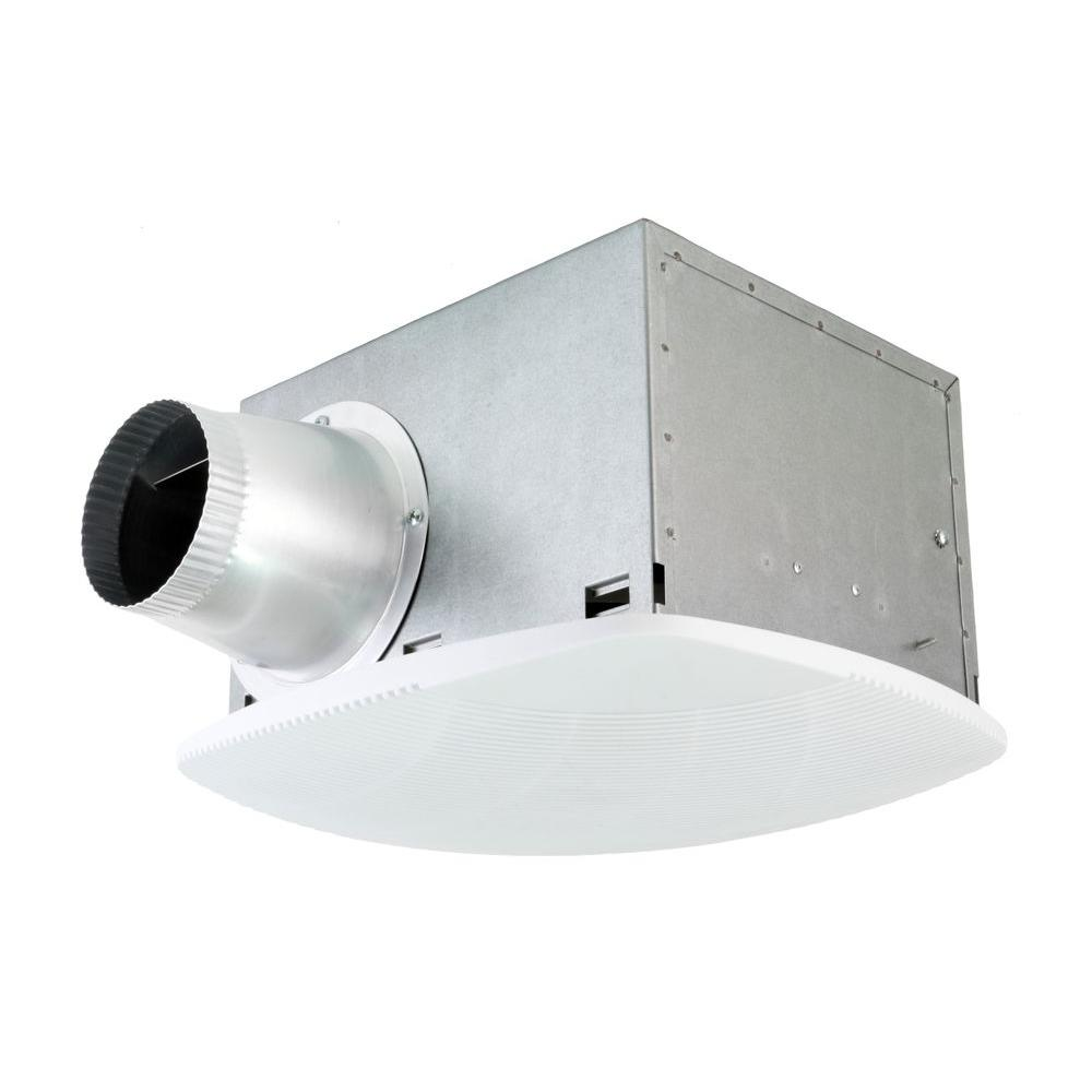 NuVent Super Quiet 80 CFM High Efficiency Ceiling Bathroom Exhaust Fan-NXSH80UPS