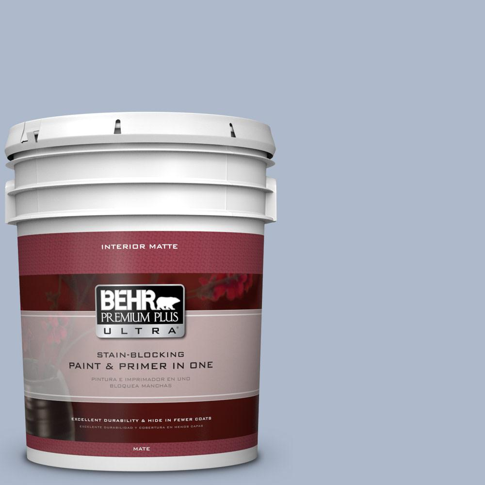 5 gal. #PPU15-16 Simply Blue Flat/Matte Interior Paint