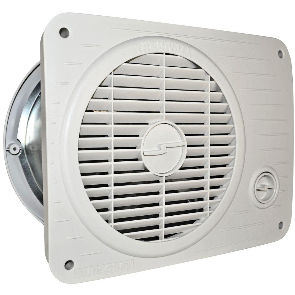 Suncourt Thru Wall Fan Hardwired Variable Speed-TW208P - The Home Depot