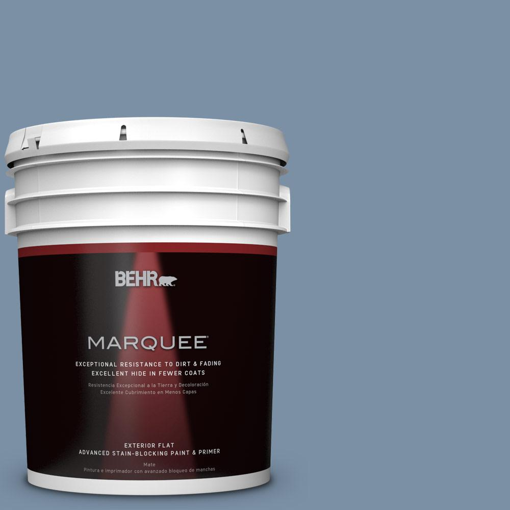 BEHR MARQUEE 5-gal. #S510-4 Jean Jacket Blue Flat Exterior Paint-445405 -