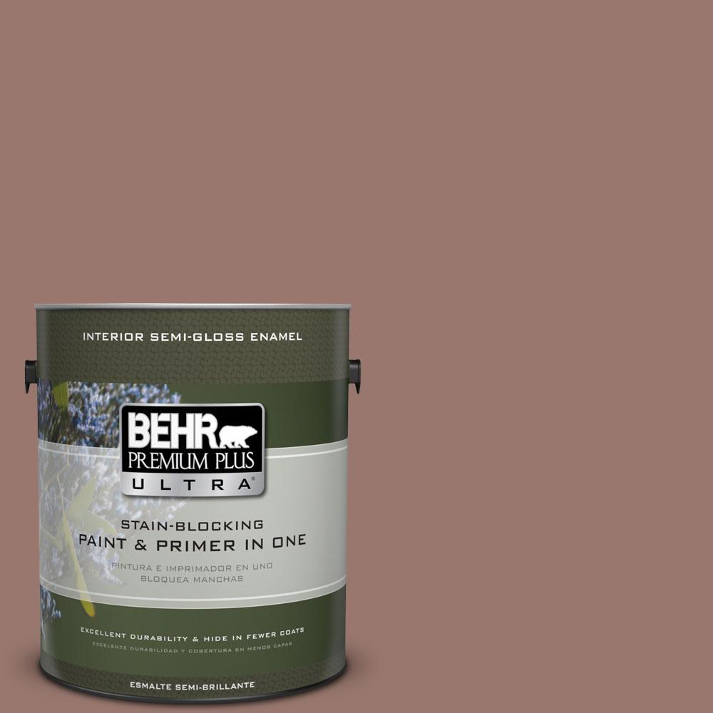 1-gal. #N160-5 Chocolate Delight Semi-Gloss Enamel Interior Paint