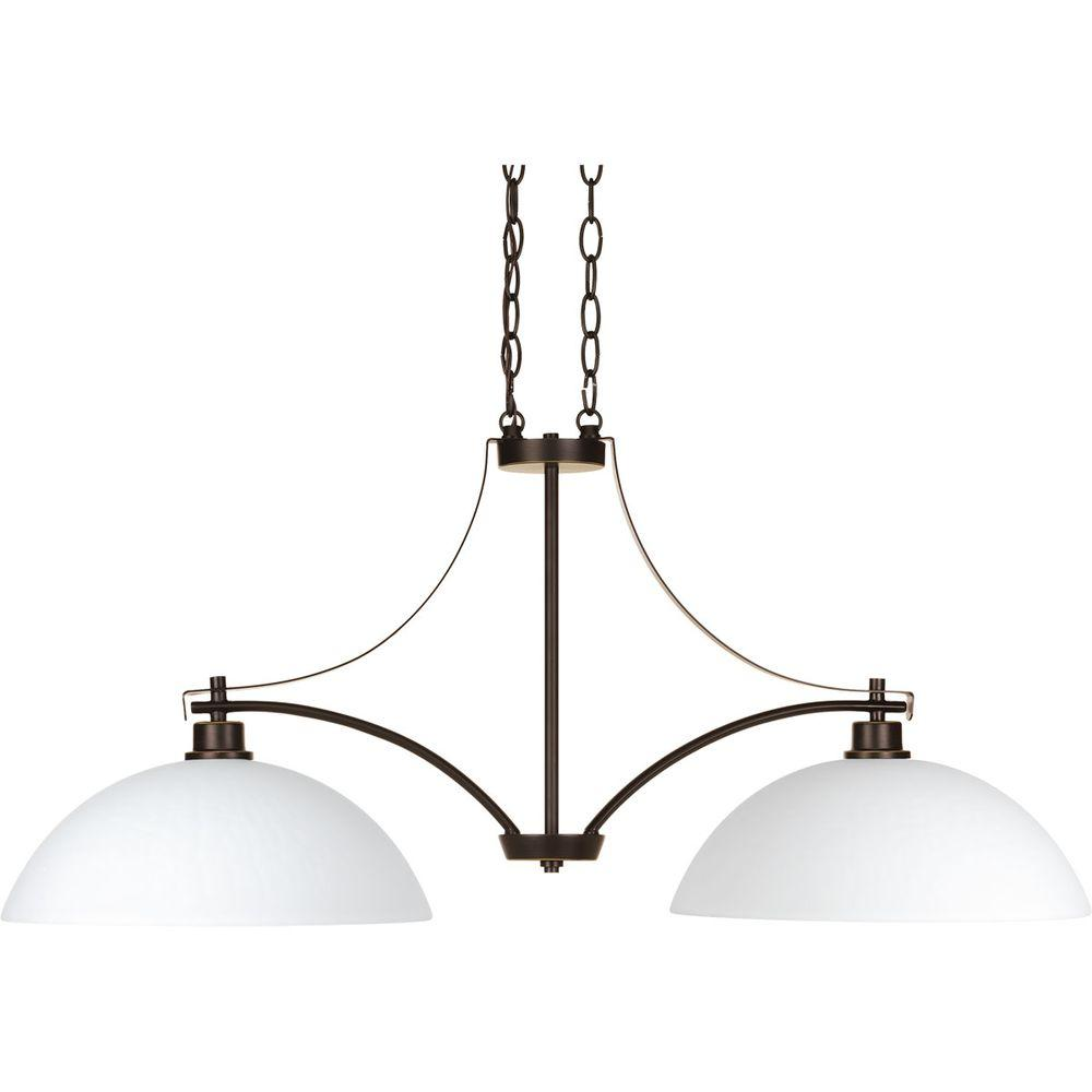 Legend Collection 2-Light Antique Bronze Chandelier with Shade