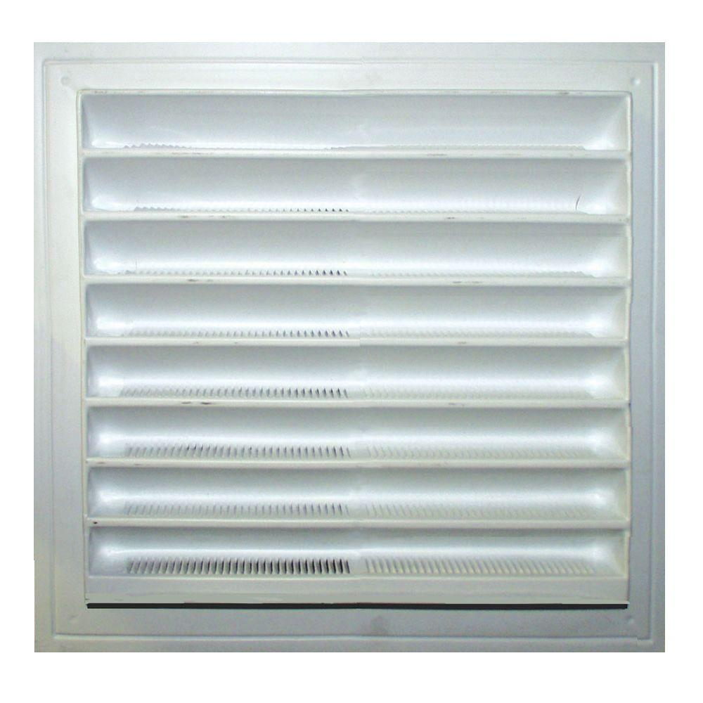 Master Flow 8 in. x 8 in. Plastic Wall Louver Static