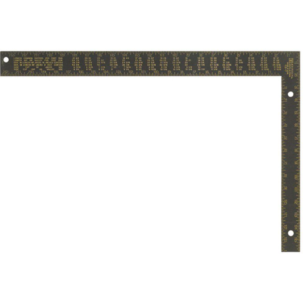 Johnson 16 in. x 24 in. Black Aluminum Rafter Square