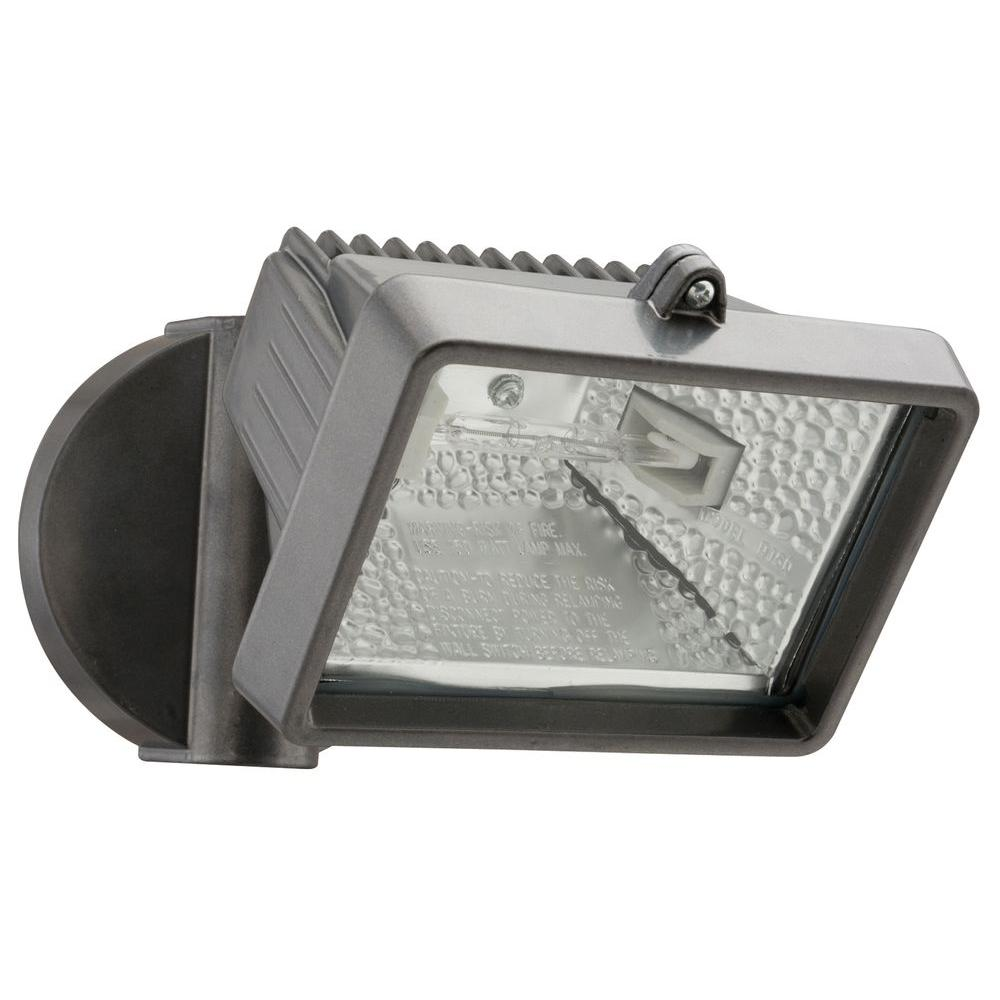 Lithonia Lighting 1-Head Bronze Outdoor Mini Flood Light-OFLM 150Q 120 LP
