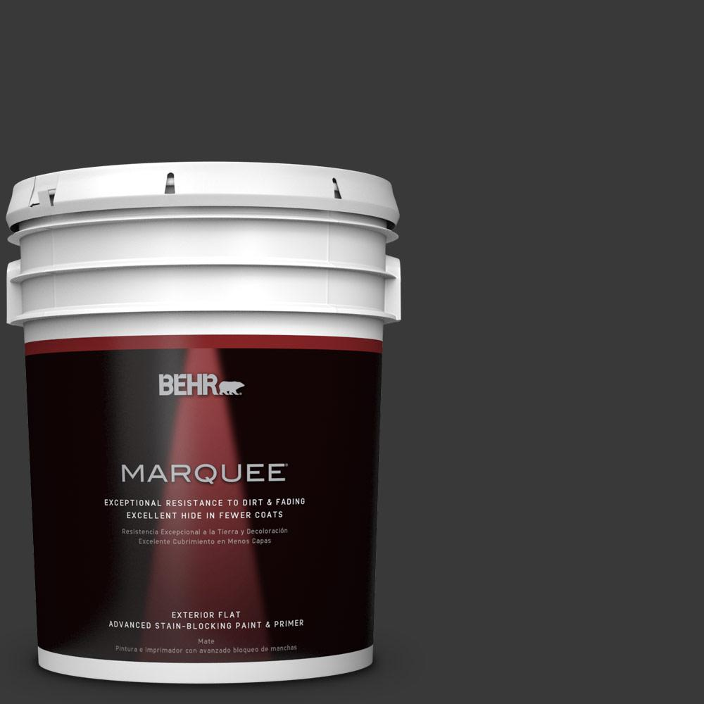 BEHR MARQUEE 5-gal. #PPF-59 Raven Black Flat Exterior Paint