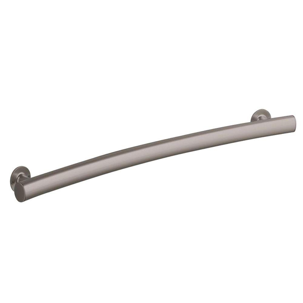 STERLING 34 in. x 1.875 in. Curved Bar with Wide Grip in Nickel