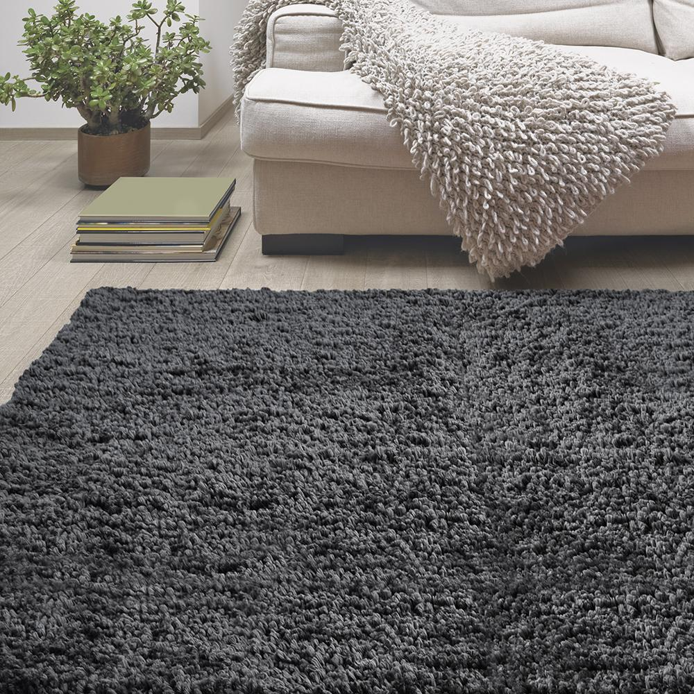 Lanart Palazzo Shag Charcoal 6 ft. x 9 ft. Area Rug-ROPE6X9CH