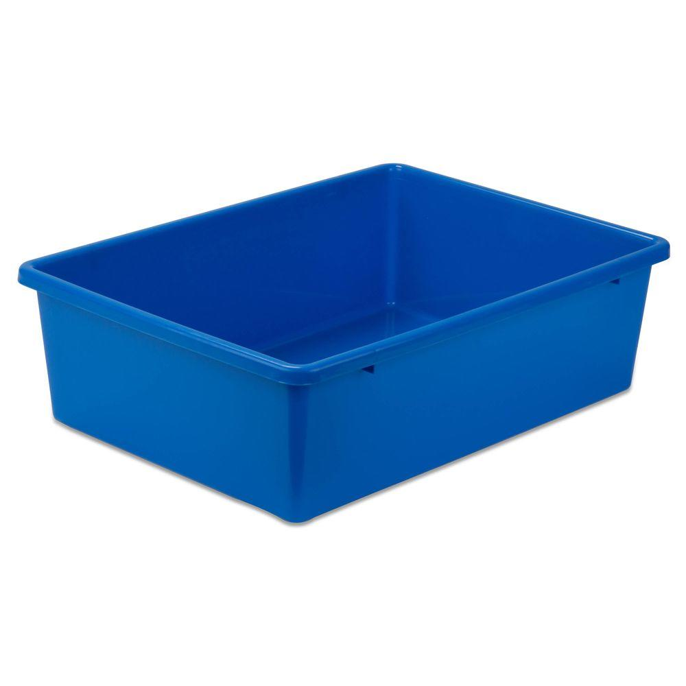 Honey-Can-Do 16.25 in. x 5 in. Blue Storage Cube-PRT-SRT1602-LgBlu - The