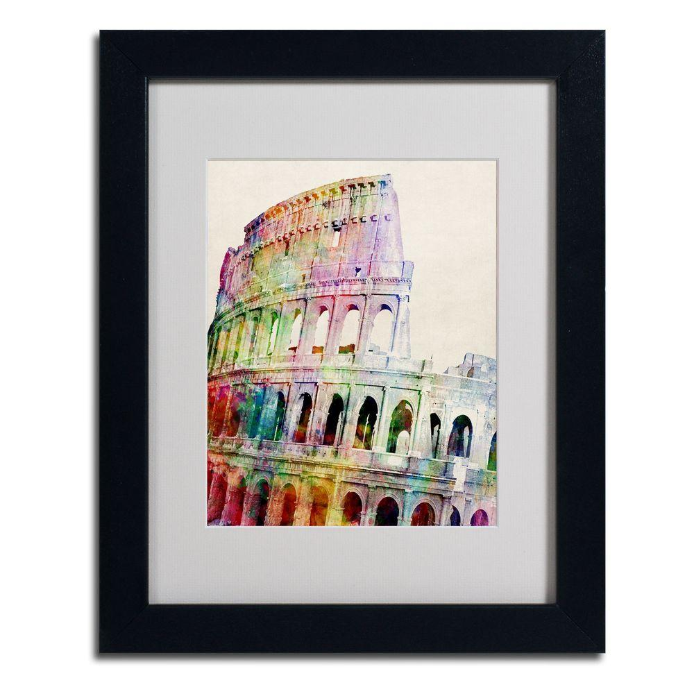 null 11 in. x 14 in. Colosseum Matted Framed Art