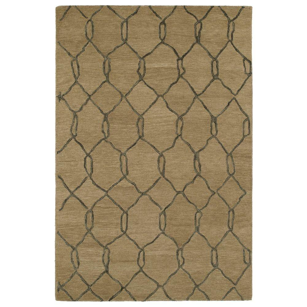 Casablanca Light Brown 8 ft. x 11 ft. Area Rug