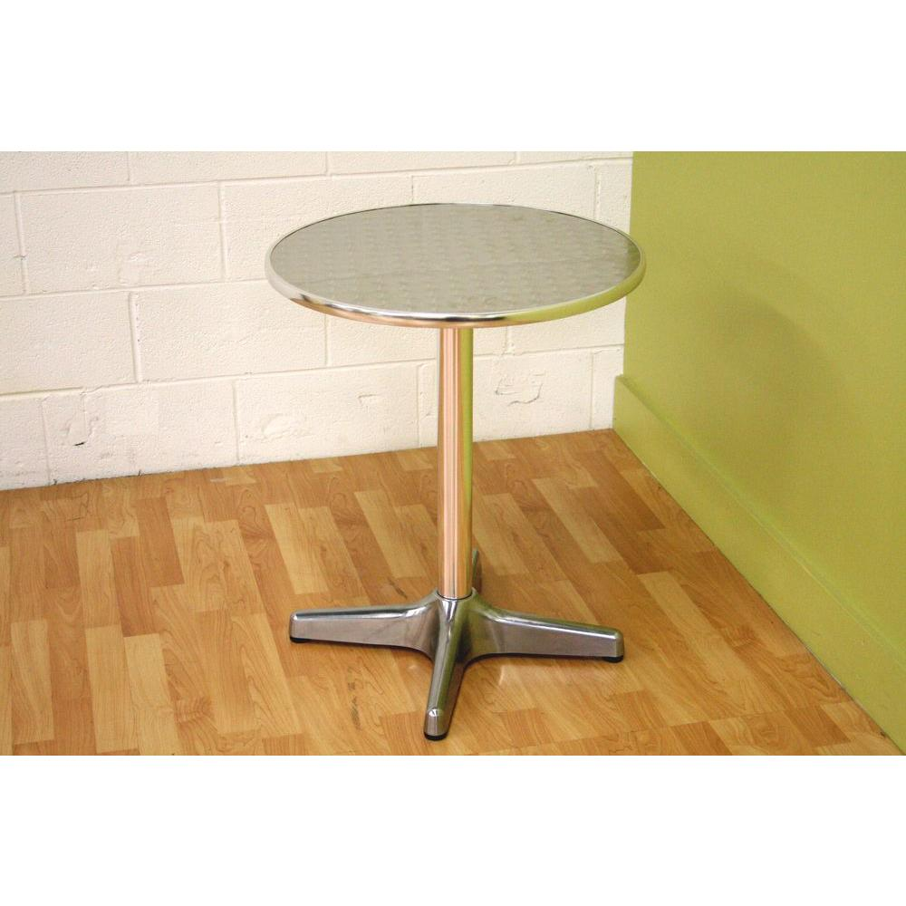 "Eustace 23.5 in. L Round Bar Table in ""Silver"" Gray"